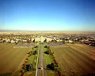 Aurora, Colorado - 1973 aerial view of Fitzsimons Army Hospital in Aurora, before closure