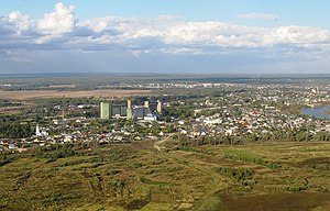 Volodarsk, Russia - Aerial view of Volodarsk