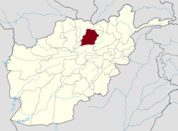 Map of Afghanistan with Samangan highlighted