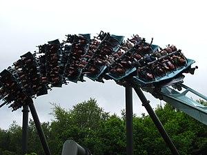 Galactica (roller coaster) - Image: Air 06