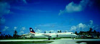Air Marshall Islands - Air Marshall Islands Saab 2000 at Funafuti International Airport, Tuvalu (1996)