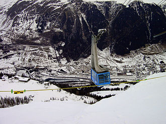 Airolo - Airolo in winter from the Sasso della Boggia