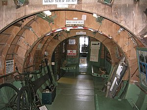 Airspeed Horsa - Airspeed Horsa interior, complete with folding bike