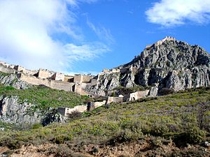 Acrocorinth - The walled gates of Acrocorinth, as rebuilt by the Venetians.