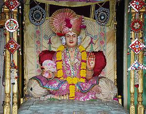 Laxmi Narayan Dev Gadi - Ghanshyam Maharaj in the Akshar Bhuvan at the LaxmiNarayan Dev Gadi headquarters