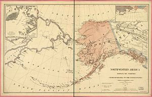 Russian colonization of the Americas - A map depicting the territory of Alaska in 1867, immediately after the Alaska Purchase