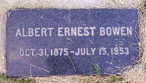 Albert E. Bowen - Image: Albert E Bowen Grave
