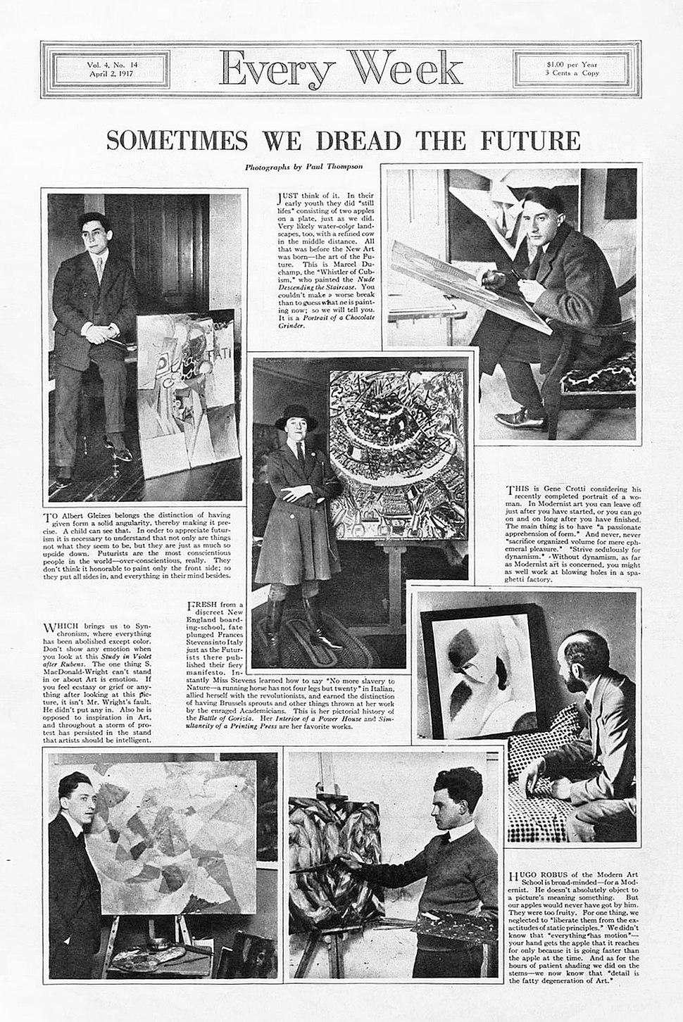 Albert Gleizes, Marcel Duchamp, Jean Crotti, Hugo Robus, Stanton MacDonald-Wright, Frances Simpson Stevens, Every Week, No. 14, April 2, 1917