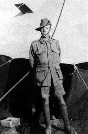 Albert Jacka - Corporal Albert Jacka on Mudros, 1915