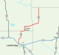 Alberta Highway 25 Map.png