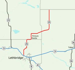 Alberta Highway 25 - Image: Alberta Highway 25 Map