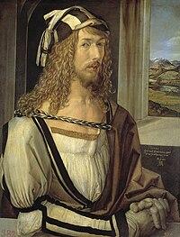 Albrecht Dürer, Selbstbildnis mit 26 Jahren (Prado, Madrid).jpg