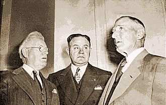 James A. Johnston - From left to right: Warden James A. Johnston, Associate Warden E.J. Miller, District Attorney Frank J. Hennessy