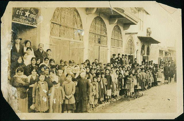Aleppo Jan 1920 Armenian refugees at the American relief eye hospital by University of Michigan Expedition, George R. Swain, Ann Arbor, Michigan