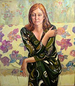 Alexey Kuzmich Portrait of actress Larisa Luzhina 1988.JPG