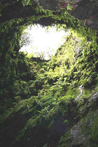 Algar do Carvão - A view through the Boca do Algar (Mouth of the Cavern)