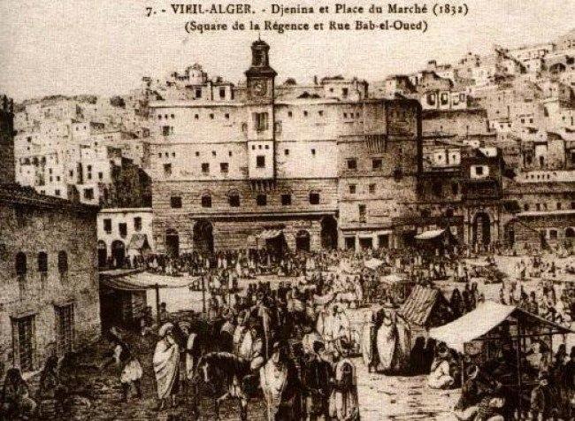 Algiers 1832 - Ancient slaves market