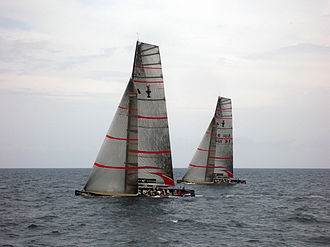 Alinghi - The boats SUI 91 and SUI 100.