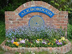 Alkborough village sign on Walcot Road.JPG