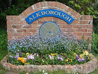 Alkborough - Image: Alkborough village sign on Walcot Road
