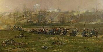 Allant au feu (No 3.), fragment du panorama de La Bataille de Champigny.jpg