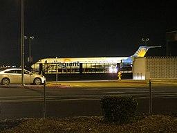 Allegiant MD-82 at Stockton Airport 2, Jan 2016