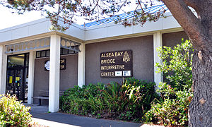 Waldport, Oregon - Alsea Bay Bridge Interpretive Center in Waldport