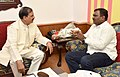 Amar Kumar Bauri meeting the Minister of State for Culture and Tourism (Independent Charge), Dr. Mahesh Sharma, in New Delhi (1).jpg