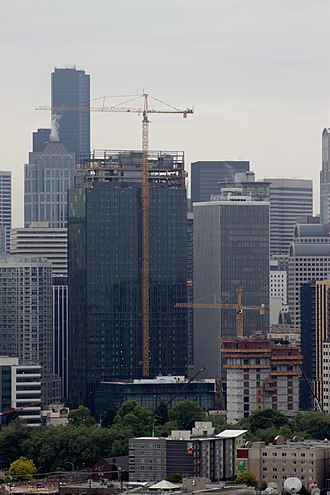 Amazon HQ2 - Part of the Amazon headquarters in Seattle, under construction in 2015