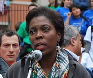 Ertharin Cousin - Ambassador Cousin addresses an Earth Day event in Rome in April 2010.