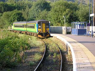 Ambergate railway station Railway station in Derbyshire, England