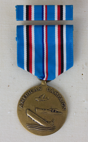 American Campaign Medal - Image: American Campaign Obverse with Ribbon