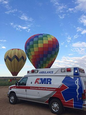 American Medical Response - Image: American Medical Response at the 2014 Balloon Fest in Las Cruces, NM
