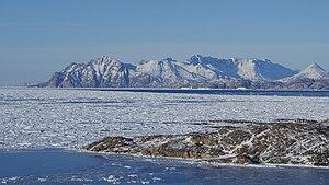 Ammassalik Island - Ammassalik Island seen from Kulusuk Island