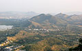 An aerial view of Udaipur and Aravali hills Rajasthan India 2012.jpg