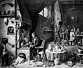 An alchemist in his laboratory. Oil painting by a follower o Wellcome M0011052.jpg