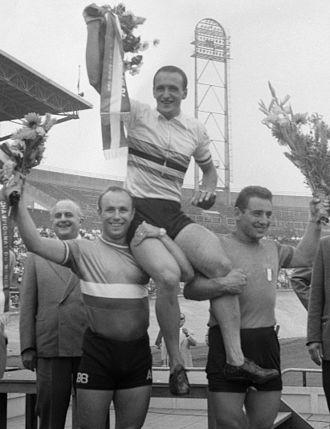 Valentino Gasparella - André Gruchet, Valentino Gasparella and Sante Gaiardoni at the 1959 World Championships