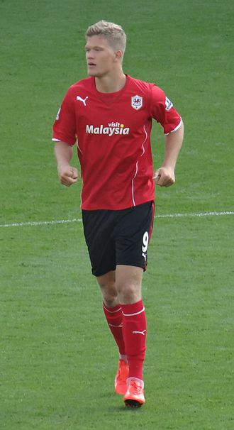 Andreas Cornelius - Cornelius with Cardiff City in 2013