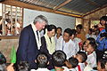 Andrew Mitchell and Aung San Suu Kyi meet schoolchildren in Burma (6352441887).jpg