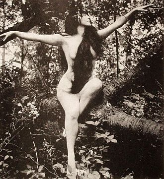 A film still of star Annette Kellerman Annette Kellerman in tree, arms spread.jpg