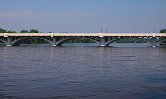 National Register of Historic Places listings in Anoka County, Minnesota - Image: Anoka Champlin Mississippi River Bridge