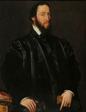 Antoine Perrenot de Granvelle - Granvelle, portrait by Antonis Mor (1549)