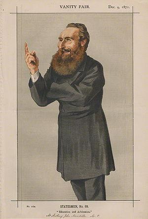 English: Caricature of Anthony John Mundella. ...