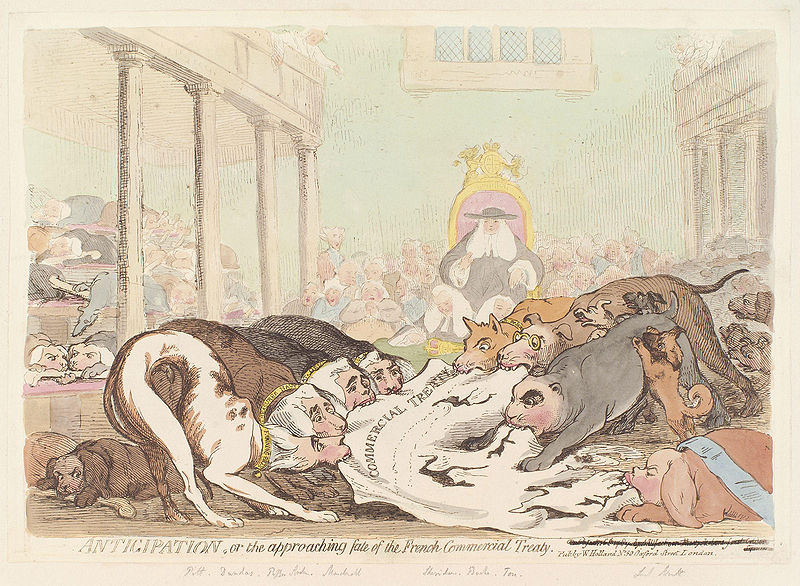 File:Anticipation, or the approaching fate of the French Commercial Treaty by James Gillray.jpg