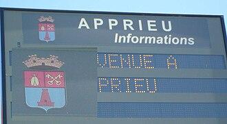 Apprieu - Information Sign