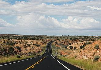 Arizona State Route 98 - SR 98 east of Kaibito