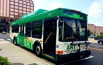 Arlington Transit - Arlington Transit NABI 35 LFW CNG at Pentagon City Station