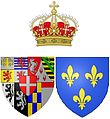 alt=Description de l'image Arms of Marie Clotilde of France (1759-1802), Queen of Sardinia.jpg.