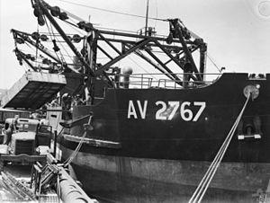 Australian Army ship Crusader (AV 2767) - Image: Army ship Crusader with cargo