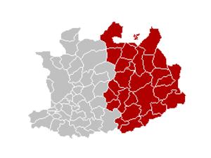 Arrondissement of Turnhout - Image: Arr Turnhout Locatie